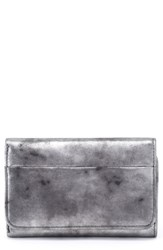 Hobo 'Jill' Trifold Wallet Metallic Smoke