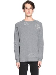 Cheap Monday Wrack Destroyed Cotton Sweatshirt