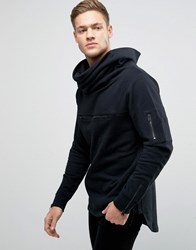 Jack And Jones Core Funnel Neck Sweatshirt Black