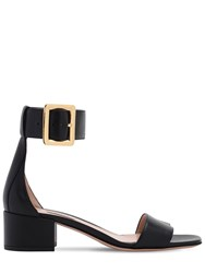 Bally 40Mm Janise Leather Sandals Black