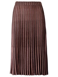Gig Knit Midi Skirt Women Polyimide M Brown