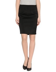 Tomaso Knee Length Skirts Black