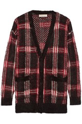 Michael Michael Kors Plaid Knitted Cardigan Black