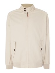 Paul Costelloe Casual Button Harrington Jacket Sand
