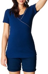 Noppies Women's Vera Maternity Nursing Tee Midnight Blue