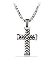 David Yurman Chevron Cross Pendant Silver
