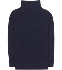 81 Hours Conda Wool And Cashmere Turtleneck Sweater Blue