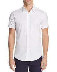 Theory Sylvain Wealth Short Sleeve Button Down Shirt White