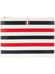 Thom Browne Striped Document Holder Multicolour