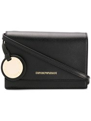 Emporio Armani Structured Cross Body Bag Black