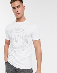 River Island T Shirt With Logo Detail In White