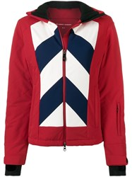 Perfect Moment Chevron Hooded Day Jacket Red