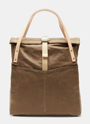 Bedouin Bosun's Roll Top Tote Bag Khaki