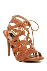 Elegant Footwear Elina Lace Up Sandal Brown