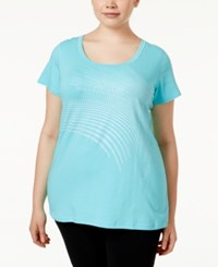 Ideology Plus Size Graphic T Shirt Only At Macy's Crystal Mist
