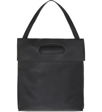 Tom Ford Calf Leather Backpack Tote Black