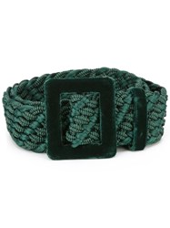 Yves Saint Laurent Vintage Braided Belt Green