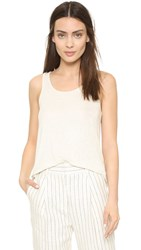 Vince Luxe Drape Tank Heather White