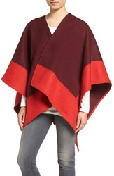 Rag And Bone Women's Double Face Wool Wrap Berry