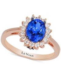 Le Vian Chocolatier Tanzanite 1 Ct. T.W. And Diamond 1 3 Ct. T.W. Ring In 14K Rose Gold