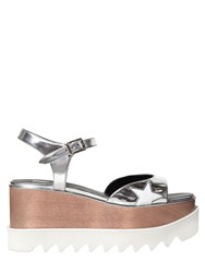 Stella Mccartney 75Mm Elyse Faux Metallic Leather Sandals