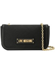 Love Moschino Jacquard Panelled Shoulder Bag Black