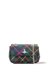 Vivienne Westwood Tartan Cross Body Bag Blue