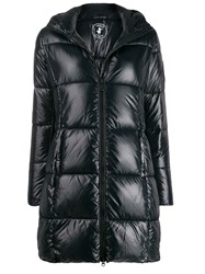 Save The Duck Padded Hooded Coat Black