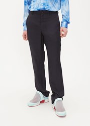 Comme Des Garcons Homme Plus 'S Jacquard Striped Trouser Pants In Black Size Small 100 Polyester