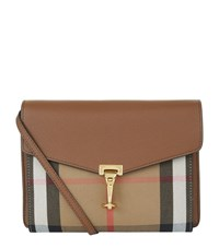 Burberry Shoes And Accessories Small House Check Cross Body Bag Female Tan