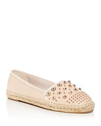Kenneth Cole Brigid Studded Leather Espadrille Flats Nude