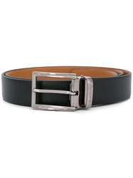 Baldinini Silver Tone Buckle Belt Black