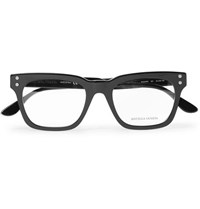 Bottega Veneta Square Frame Acetate Optical Glasses Black