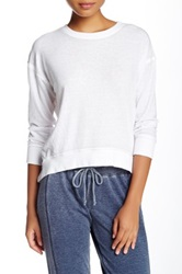 Central Park West The Foster Cropped Tee White