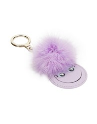 Kate Spade Mirror Monster Leather Keychain Blue Viole