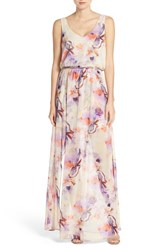 Women's Show Me Your Mumu 'Kendall' Soft V Back A Line Gown Abers Babers