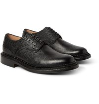 Grenson Neighborhood William Pebble Grain Leather Brogues Black