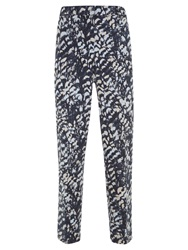 Mint Velvet Sara Print Cotton Blend Capri Trousers Multi