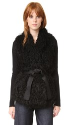Zadig And Voltaire Fay Faux Fur Vest Noir