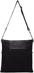 Maison Martin Margiela Black Canvas Messenger Bag