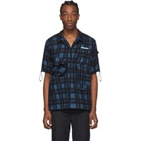 Off White Blue Check Voyager Short Sleeve Shirt