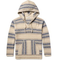 Outerknown Outpost Striped Baby Alpaca And Organic Cotton Blend Hoodie Ecru