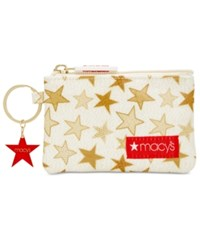 Macy's Coated Canvas Coin Purse Created For White