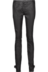 Belstaff Ledbury Moto Style Leather Skinny Pants Black