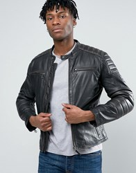Pepe Jeans Leather Jacket Black