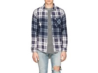 Nsf Axel Distressed Plaid Flannel Shirt Multi