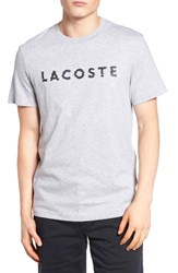 Lacoste Men's 3D Logo Graphic T Shirt Silver Chine