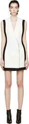 Balmain White Double Breasted Dress