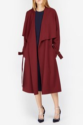 Rosetta Getty Shawl Trench Coat Red