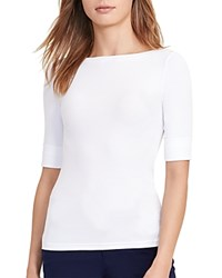 Ralph Lauren Boat Neck Tee White